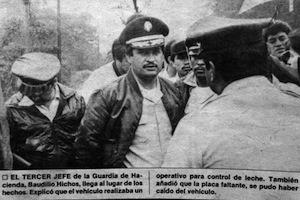 Documentos dan cuenta que el diputado Baudilio Hichos era parte de un escuadrón de la muerte de la policía