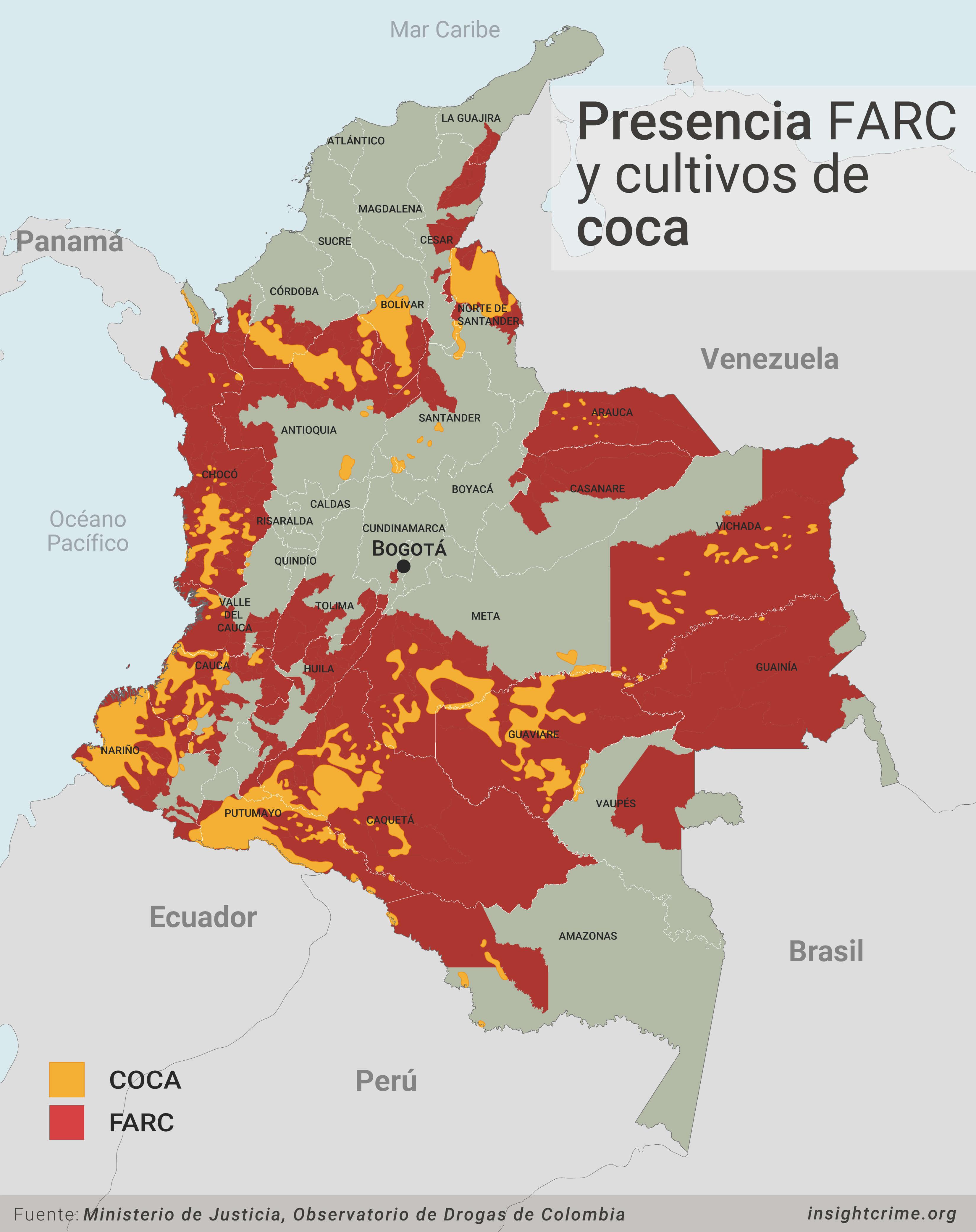 presencia farc cultivos coca