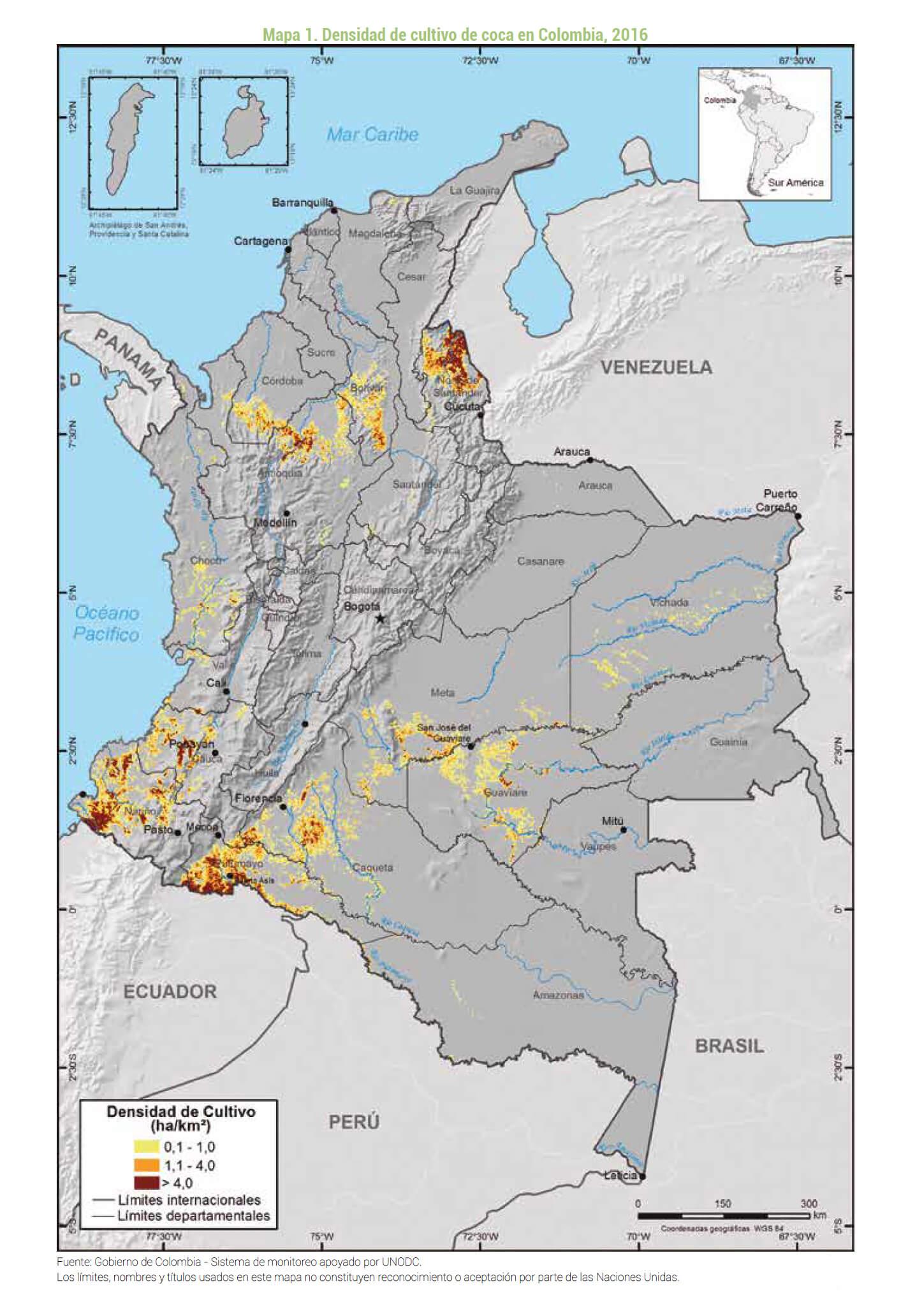 17 07 16 Mapa coca 2016