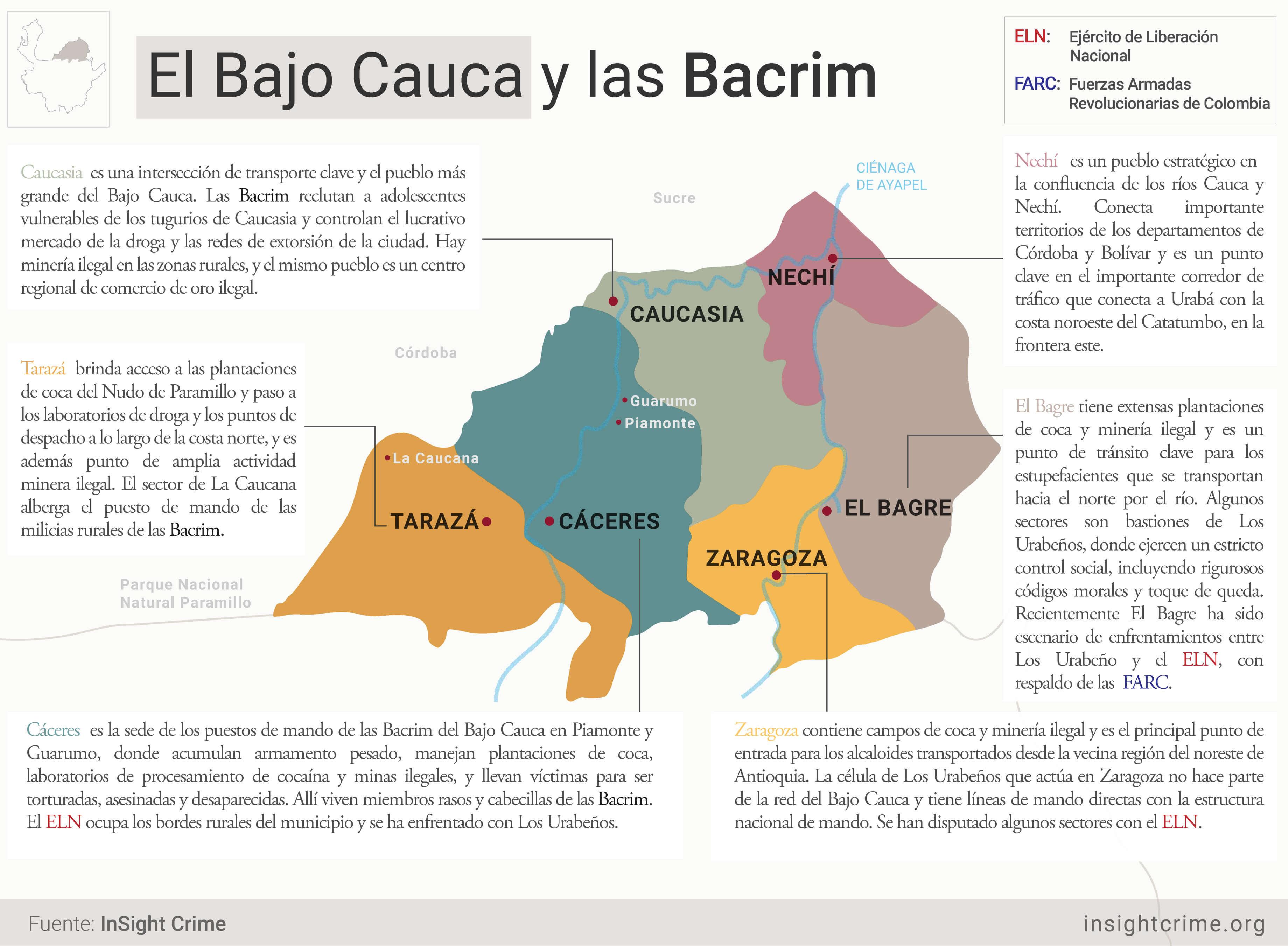 BACRIM BAJO CAUCA MAP
