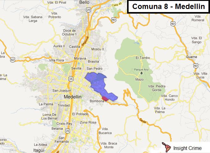 Comuna 8 Map 1