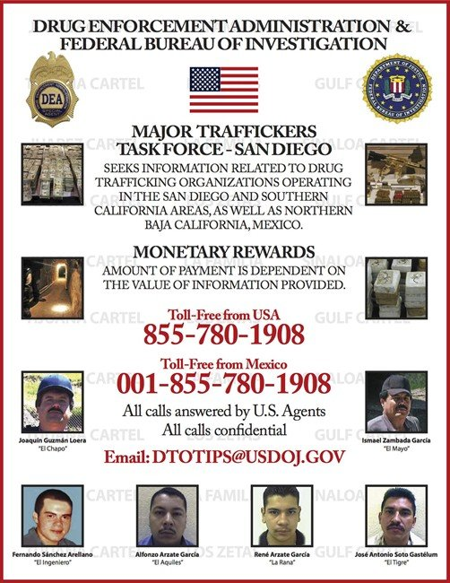 DEA most wanted drug traffickers san diego tijuana t670