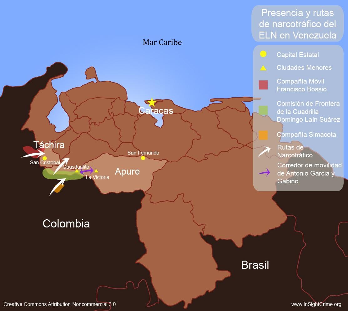 ELN presence in Venezuela espanol