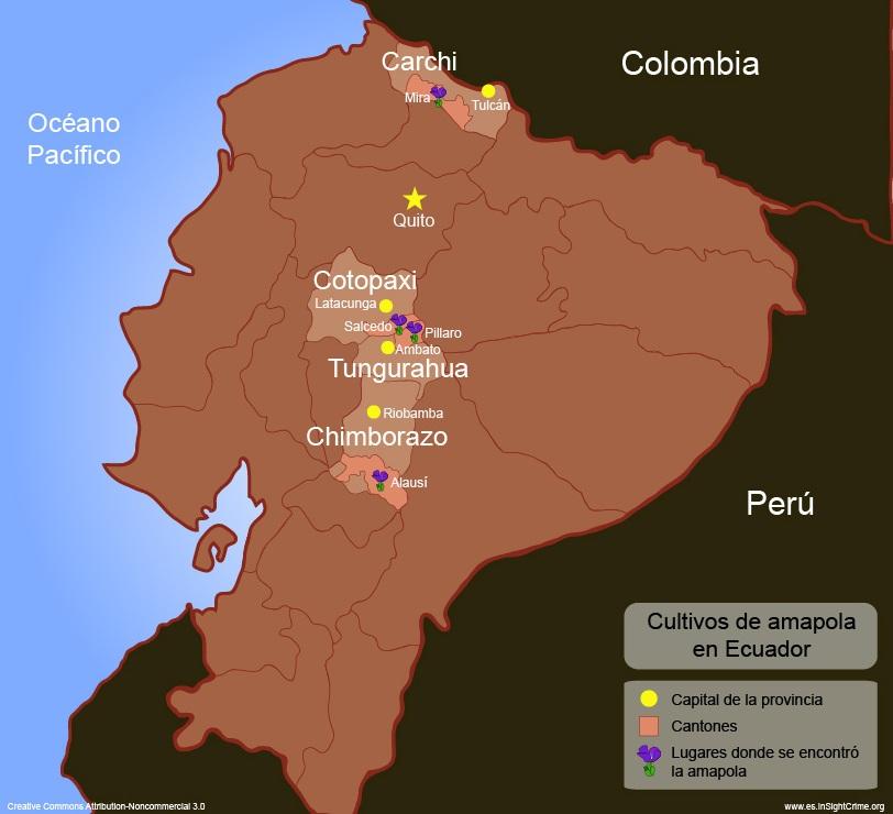 Ecuador-Poppy presence espanhol