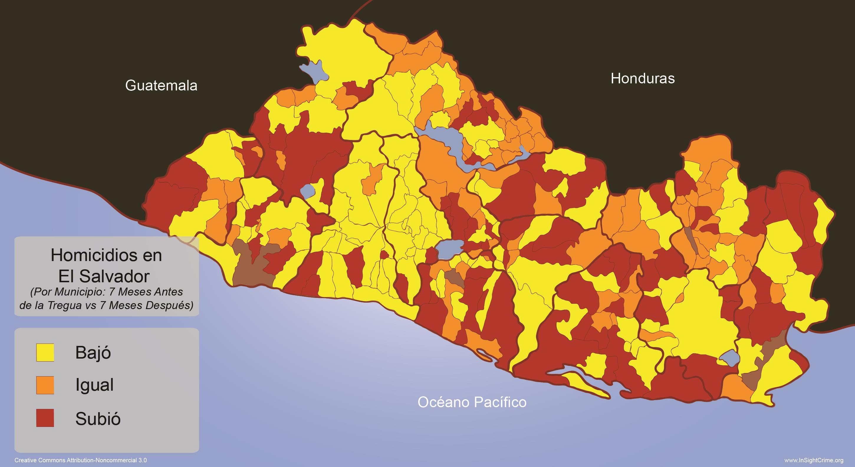 El Salvador - Homicide Rates by Municipality 2 espanol