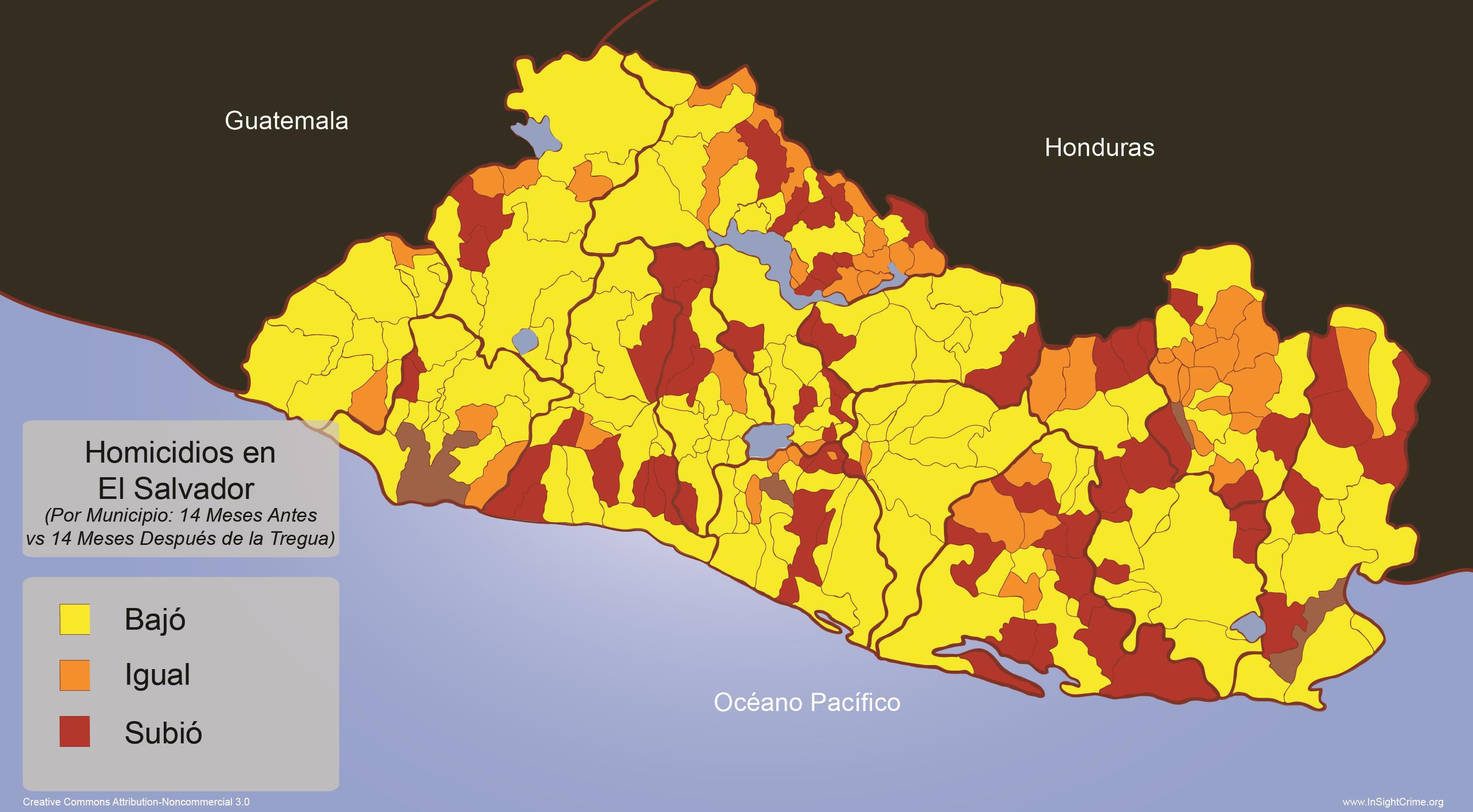 El Salvador - Homicide Rates by Municipality espanol
