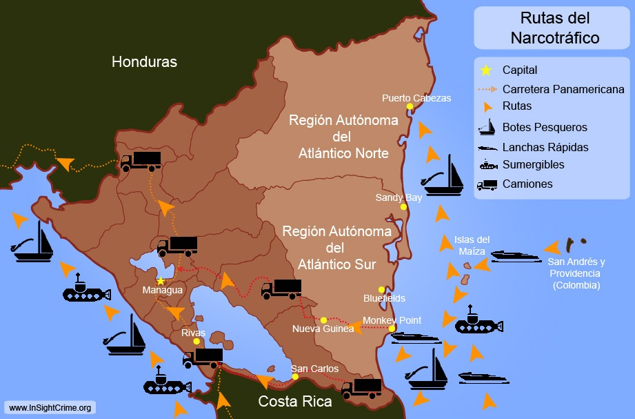 Nicaragua - Drug Routes