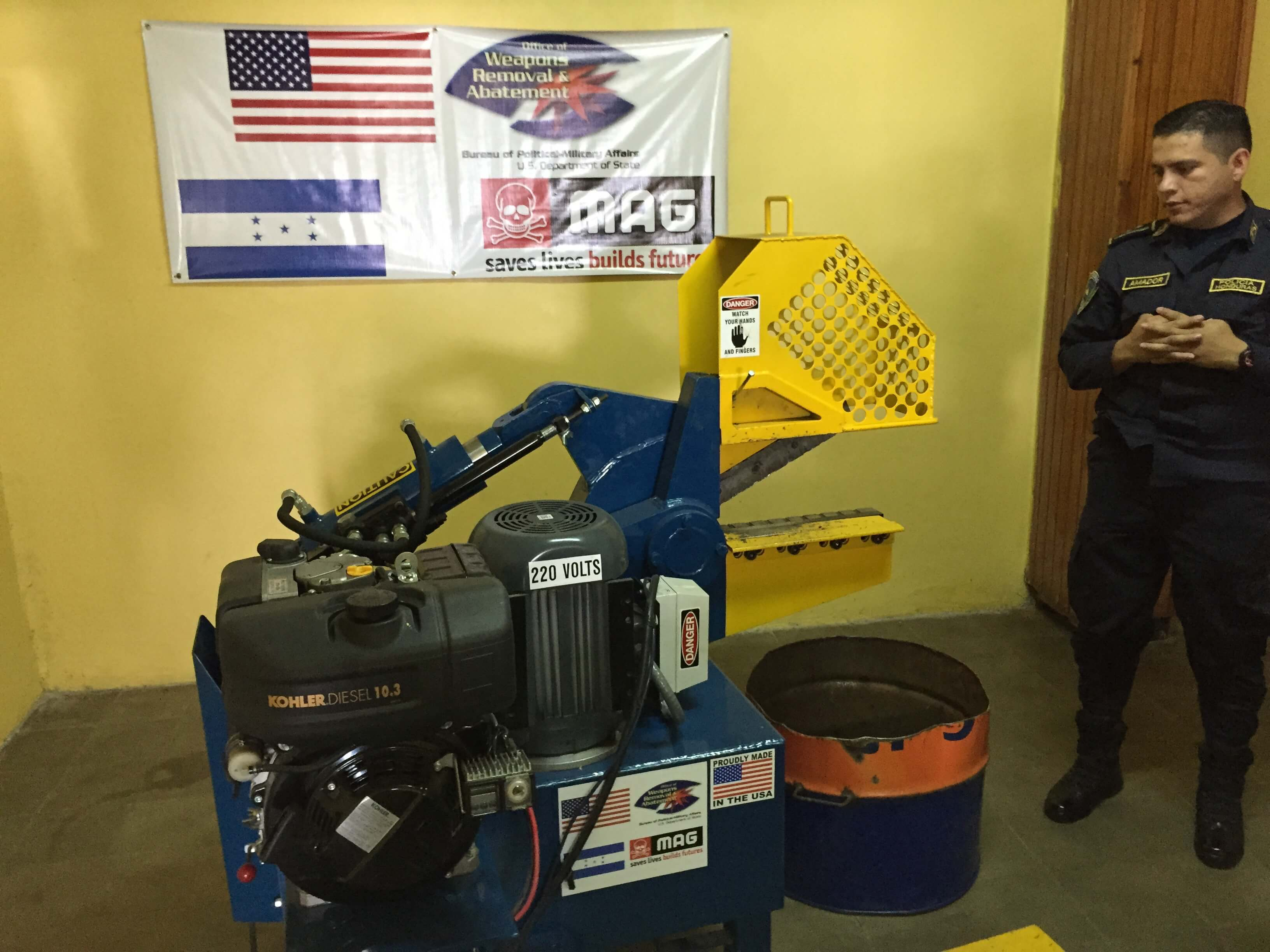 police weapons destruction machine 1