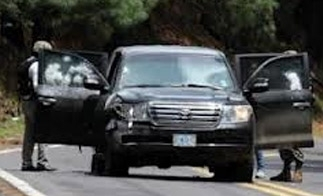 US diplomatic SUV following the attack