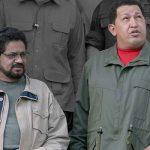 Ivan Marquez with Hugo Chavez in 2007