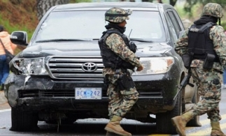 US diplomatic vehicle after shooting in Mexico