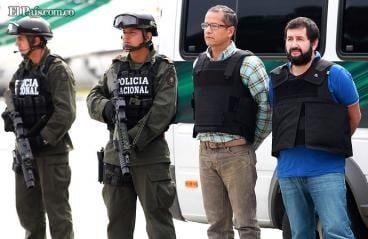 ID of a Colombian drug trafficker arrested in Venezuela