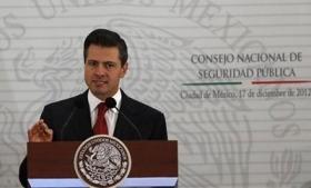 President Enrique Peña Nieto laying out security plan