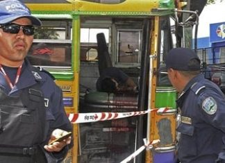 An attack by extortionists on a Tegucigalpa bus