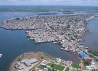 An aerial view of Tumaco, Colombia