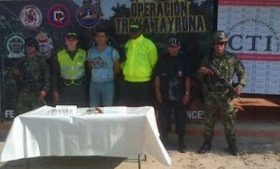 "Colombia's security forces tout the capture of alias ""Peker"""