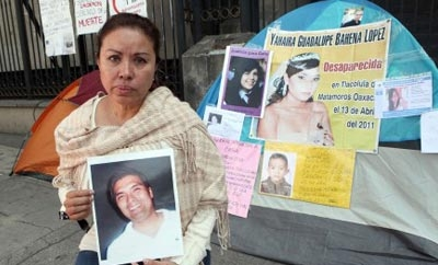 Families of disappeared people protest in Mexico
