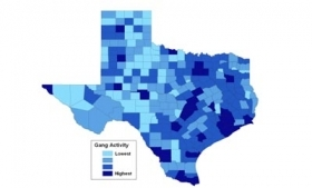 A map of gang activity in Texas