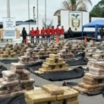A cocaine shipment seized in Ecuador