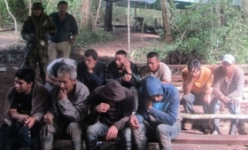Suspects arrested during the FELCN operation