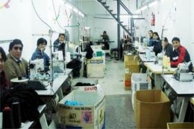 Argentine textile workshop with Bolivian laborers