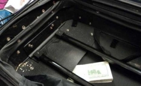 Cash seized from an Ecuadorian politician accused of smuggling