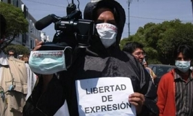 Protest against murder of journalists in Honduras