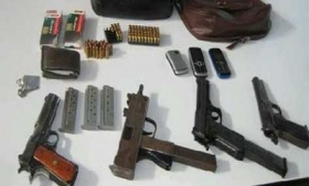 Weapons seized from a street gang in Guatemala