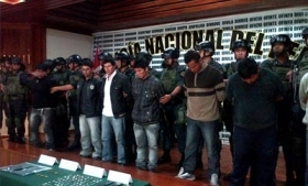 Suspects in land theft gang 'Los Sanguinarios'