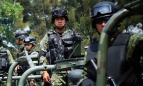 Mexican military troops in Michoacan