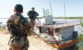 A boat seized by Peruvian authorities