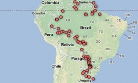 Folha's map of the border cameras