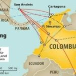 Human trafficking departure points in Colombia