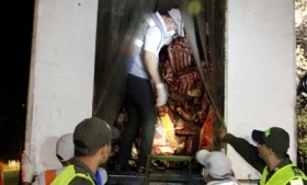 Contraband meat smuggled from Venezuela to Colombia