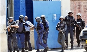 Jamaican police on an anti-drug operation.