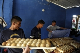 Former gang members employed as bakers in one peace zone