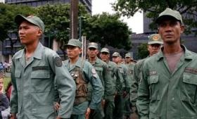 Members of the Bolivarian militias in Venezuela