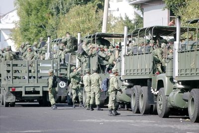 Michoacan students detained by federal forces in 2012