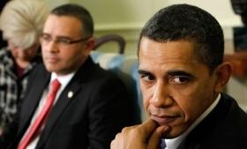 Obama with Salvadoran President Mauricio Funes