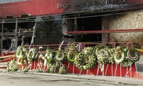 A Monterrey casino attacked by the Zetas in 2011
