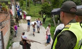 Mass displacement at La Loma in Medellin