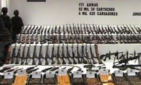 Arms seized by Mexican army