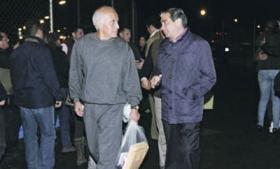 General Ruben Perez Ramirez (left) after release