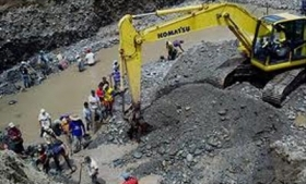 Illegal mining in Colombia