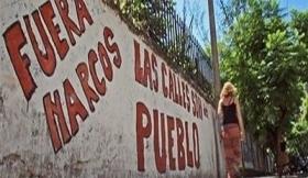 Anti-drug trade graffiti in Rosario