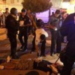 Juarez police at a crime scene