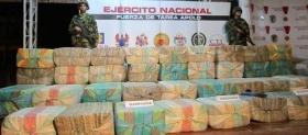 Marijuana seized by the Colombian army
