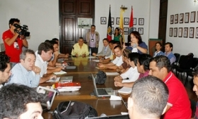 Negotiations between the Colombian government and coca farmers.