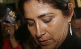 Former Peruvian congresswoman Nancy Obregon