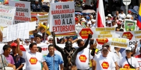 Protests against extortion are growing